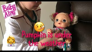 BABY ALIVE Pumpkins under the weather morning routin baby alive videos