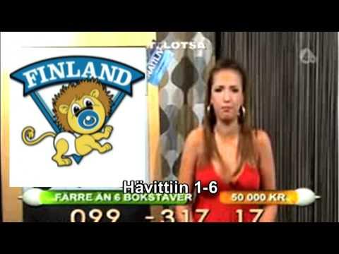 Juontaja kuulee Ruotsin tappiosta
