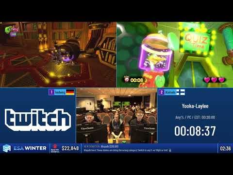 #ESAWinter19 Speedruns - Yooka-Laylee [Any%] by hedweg and iKainalo