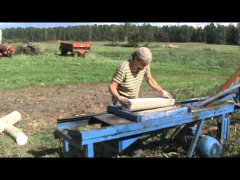 Wooden Shingle Cutting Machine. Gatis Lucjanovs