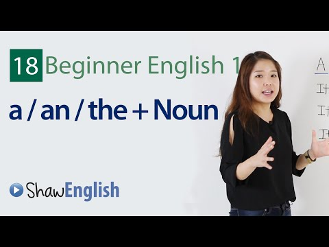 English Grammar: Articles + Noun