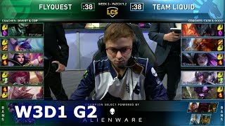 FLY vs TL | Week 3 Day 1 S9 LCS Spring 2019 | FlyQuest vs Team Liquid W3D1