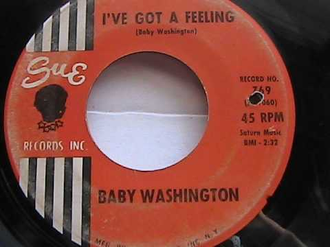 Thumbnail of video Baby Washington - 'I've got a feeling'