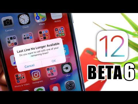 iOS 12 Beta 6 Dual Sim Card Support & More