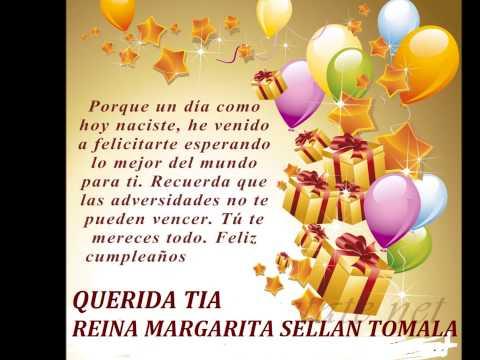 Feliz Cumpleanos Querida Tia Feliz Cumpleaños Tia Reina
