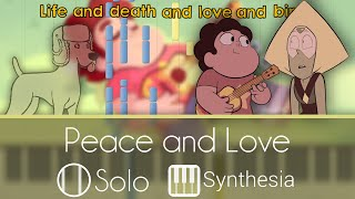 Peace and Love - Steven Universe - |SOLO PIANO TUTORIAL W/LYRICS| -- Synthesia HD