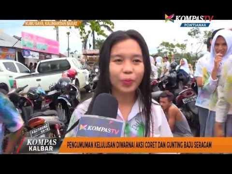 Pengumuman kelulusan Diwarnai Aksi Coret dan Gunting Baju Seragam - Kompas TV Pontianak