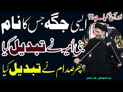 Bani Umayya Bhi Khatm Saddam Bhi Khatm Magar Aaj..?? | Maulana Syed Ali Raza Rizvi | 4K