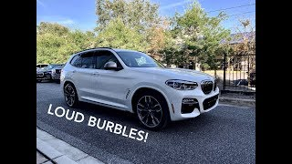 2019 BMW X3 M40i POV Drive, Cold Start, Revs, and LOUD Burbles!