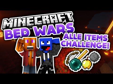 Alle Items Challenge! - Minecraft Bed Wars (Deutsch/German)