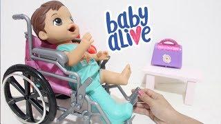 BABY ALIVE MENINO MEU PRIMEIRO FILHO GABRIEL USANDO BOTINHA DE GESSO -BABY ALIVE BRASIL