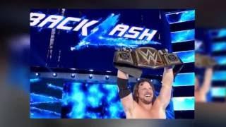 WWE  BACKLASH' 'AJ Styles' VS  'Dean Ambrose' FULL MATCH
