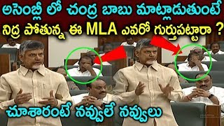 TDP MLA is sleeping In Assembly While Chandra Babu Talking To Speake | Ap_Assembly