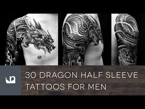 30 Dragon Half Sleeve Tattoos For Men