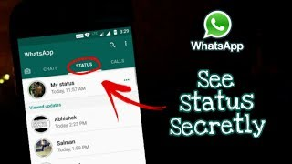 Now See STATUS and STORY Secretly | WhatsApp Tricks 2017