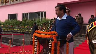 Delhi CM Arvind Kejriwal speaks at the Delhi state Republic Day celebrations 2018
