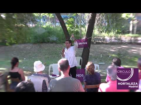 Acto de Podemos Hortaleza con Juan Carlos Monedero 14 7 2014