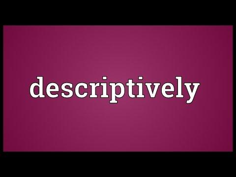 Header of descriptively