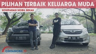Komparasi Mobil Bekas Antara Honda Freed E 2013 VS Toyota Sienta V 2016   Cintamobil TV