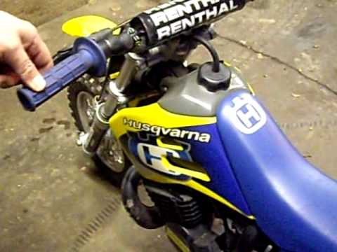 2002 Husqvarna 50cc Husky Boy JR Motocross Bike idling