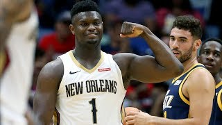 Zion Williamson 26 Points vs Rudy Gobert! 2019 NBA Preseason