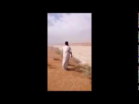 サウジアラビアの雹の川!?