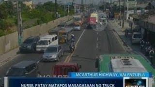 Saksi: Nurse na nakamotorsiklo sa Valenzuela, patay matapos masagasaan ng truck