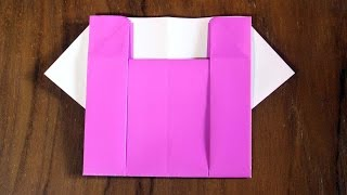 Easy origami how to make paper blouse clothes