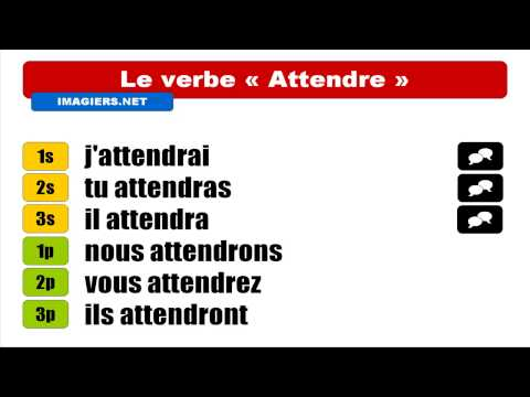 [HD] French verbs - Attendre - Indicatif Futur simple