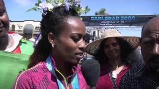 Genzebe Dibaba Carlsbad 5000 2015 post race - HD