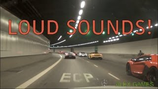 Following a Lamborghini Convoy, Tunnel Blast, FLAMES and Extreme Sounds!