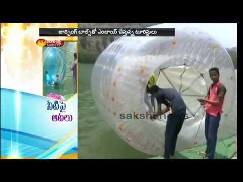 Nainital Tourists Thrills With Zorbing Ball