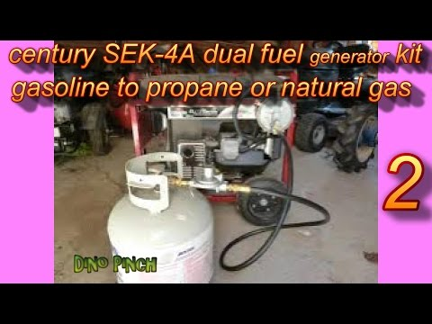 part 2 dual fuel conversion kit for small engine to run on natural gas or propane. install & review