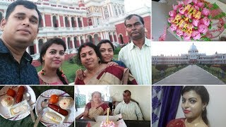Meet My Family || Celebrating Parents' Anniversary || Visiting Coochbehar Palace || Wore a Saree