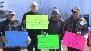Ongoing dispute with Blueberry River First Nation chief and council draws protesters