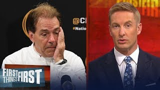 Joel Klatt believes Saban was outcoached in Alabama's collapse to Clemson | CFB | FIRST THINGS FIRST
