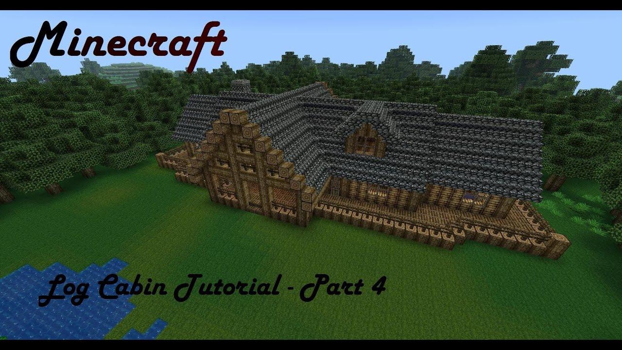 Minecraft Log Cabin ~ Minecraft mansion tutorial log cabin part interior