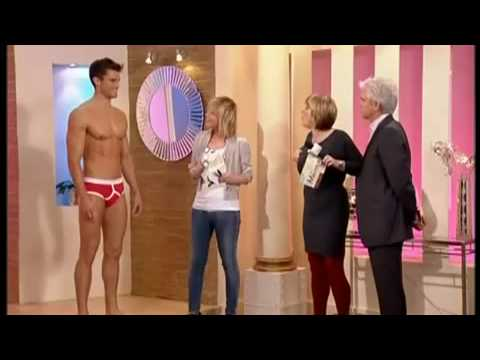Jockey retro y-front mens underwear and Sloggi basic maxis on This morning with Phil and Fern