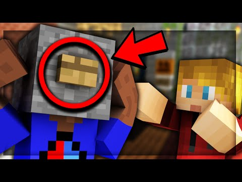 MAKE MY HEAD INTO A BUTTON!? - Minecraft FIND THE BUTTON MAP!