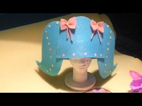 Como Hacer Gorro de Goma Espuma ( peluca ) para Fiesta