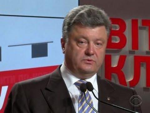 Petro Poroshenko declares victory in Ukraine's election
