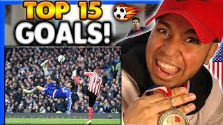 AMERICAN'S FIRST TIME WATCHING Football Skill Highlights! REACTION TOP 15 Goals 2017 Messi Neymar