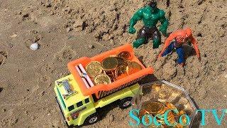 Người nhện và Hulk tìm kho báu của hải tặc - Đồ chơi dành cho trẻ em mới nhất 2018