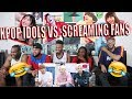 KPOP IDOLS vs FANS SCREAMS 1   BTS EXO BLACKPINK TWICE GOT7 REACTION/REVIEW