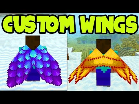 Minecraft PS3, PS4, Xbox - CUSTOM ELYTRA WINGS! ALL Custom ELYTRA WINGS on Title Update TU46 (TU46)