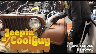 Jeep CJ7 Front Fender Removal