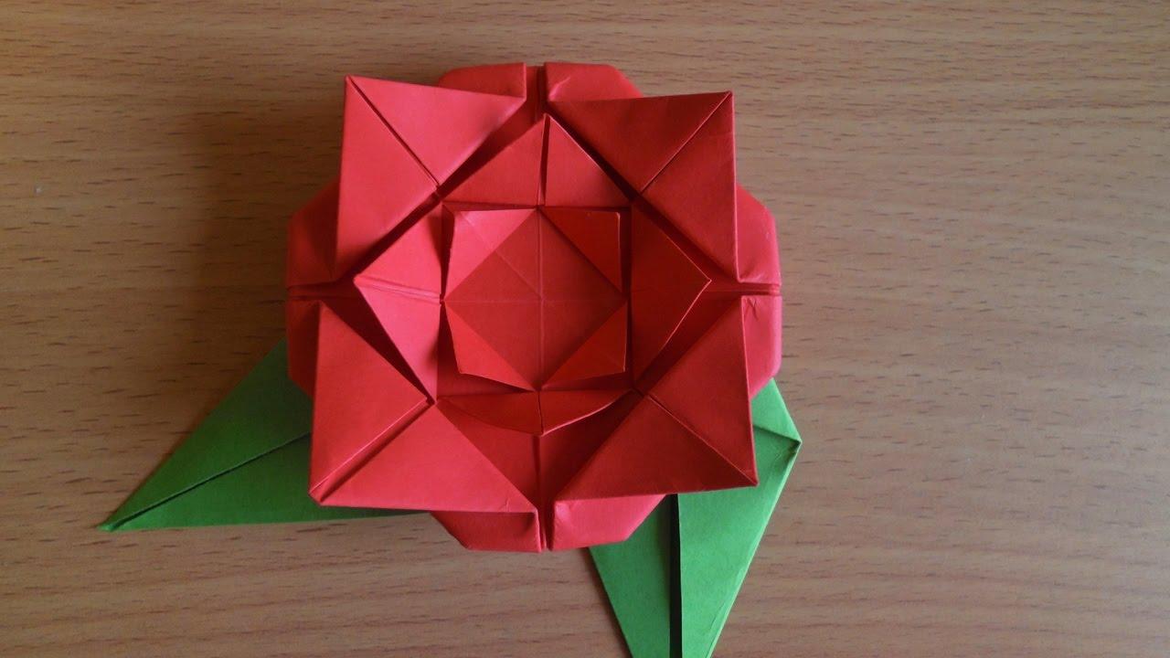 Как произвести изо бумаги розу свободно пользу кого детей с 0 впредь до 0