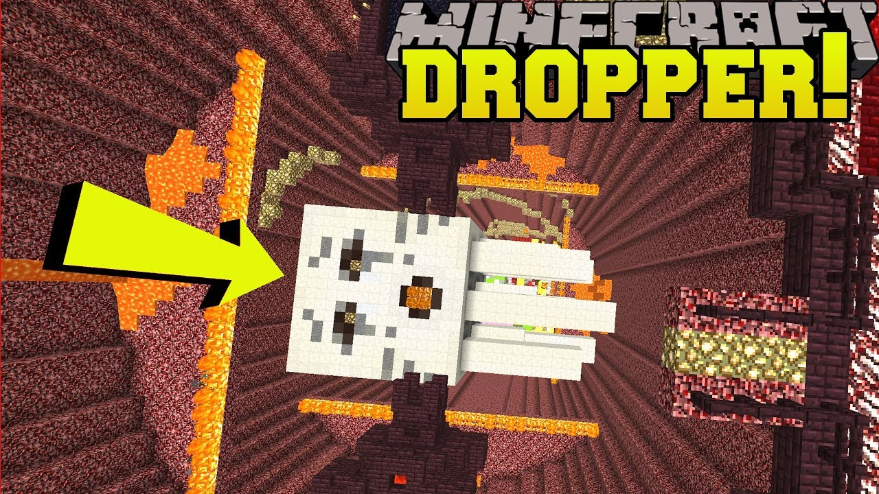 Minecraft: DROPPING ONTO A GIANT GHAST!!! - KING OF THE DROPPER - Custom Map