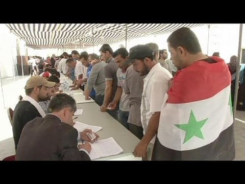 Syrian expatriates cast their ballots in presidential elections
