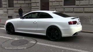 Very Loud Audi RS5 make some Revs in the City
